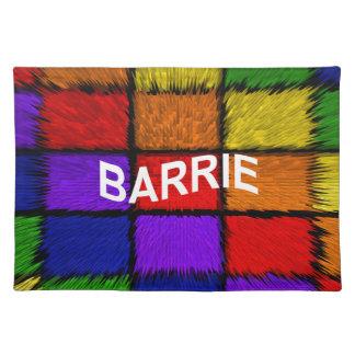 BARRIE (男性の名前) ランチョンマット