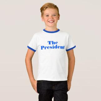 """Barronの切札のパロディ""""大統領""""のワイシャツ Tシャツ"""