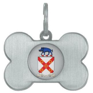 Barronの紋章付き外衣 ペットネームタグ