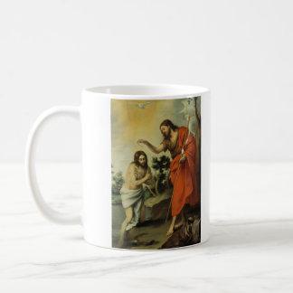 BartolomeエステバンMurillo著キリストの洗礼 コーヒーマグカップ