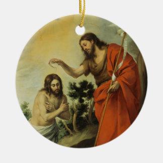 BartolomeエステバンMurillo著キリストの洗礼 セラミックオーナメント