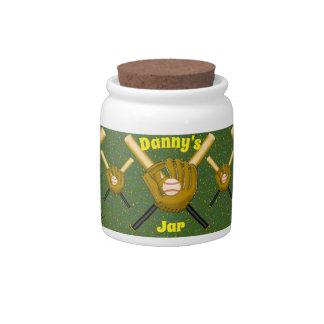 Baseball Candy Jar 陶器製キャンディジャー