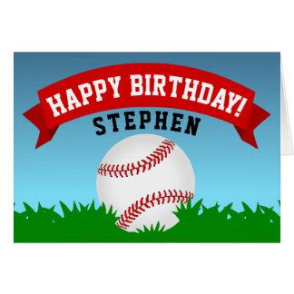 Baseball Happy Birthday カード