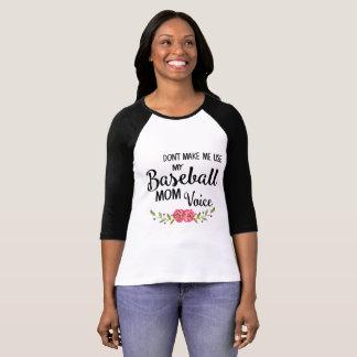 Baseball Mom Voice Shirt Tシャツ