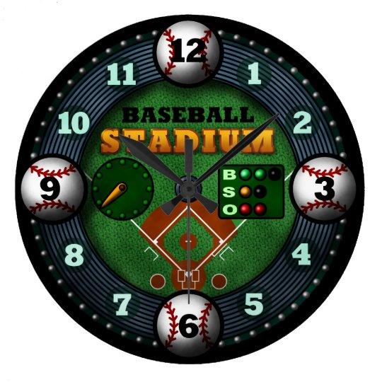 Baseball Stadium ラージ壁時計