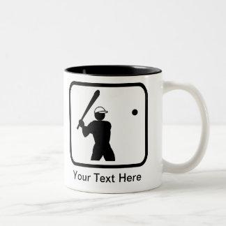Baseballerのカスタマイズ可能なロゴ ツートーンマグカップ