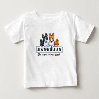 Basenjiちょうど1 ベビーTシャツ