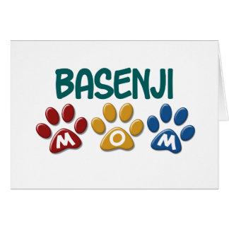 BASENJIのお母さんの足のプリント カード