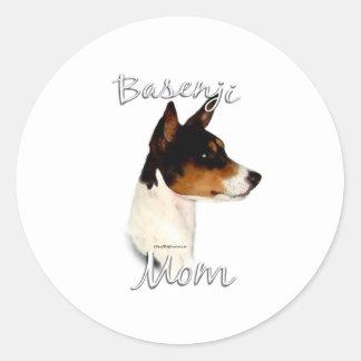 Basenjiのお母さん2 ラウンドシール