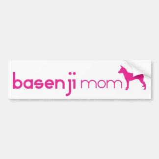 Basenjiのお母さん バンパーステッカー