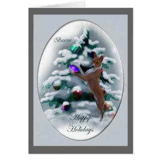 Basenjiのクリスマスのギフト カード