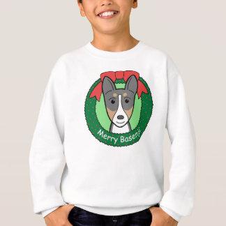Basenjiのクリスマス スウェットシャツ