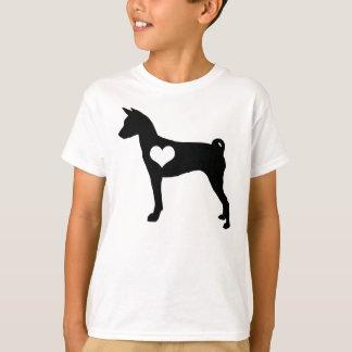 Basenjiのハートの子供のTシャツ Tシャツ