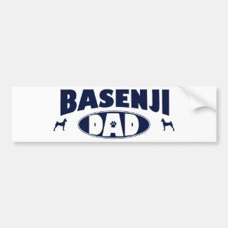 Basenjiのパパ バンパーステッカー