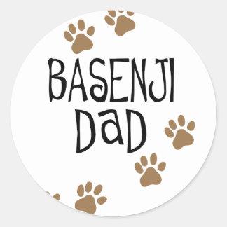 Basenjiのパパ ラウンドシール