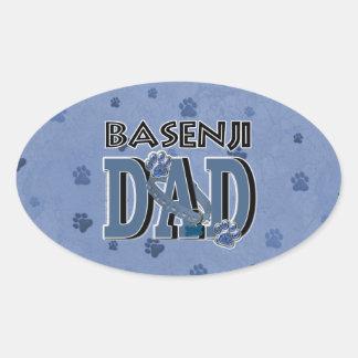 Basenjiのパパ 楕円形シール