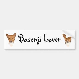 Basenjiのポートレート バンパーステッカー