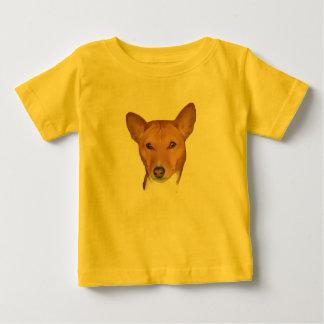 Basenjiのポートレート ベビーTシャツ