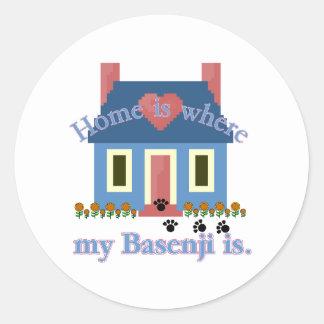 Basenjiの家はあります ラウンドシール
