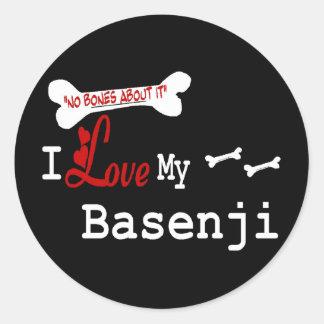 Basenjiの恋人のギフト ラウンドシール