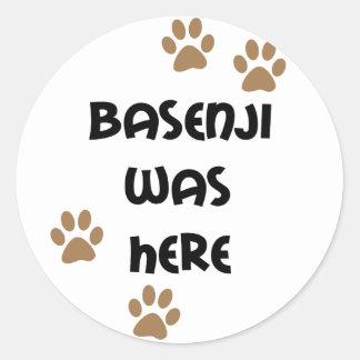 Basenjiはここにありました ラウンドシール
