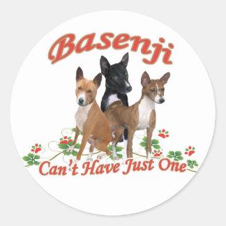 Basenjiはちょうど1ギフトを有することができません ラウンドシール
