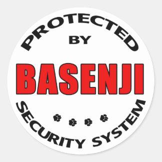 Basenji犬の保証 ラウンドシール