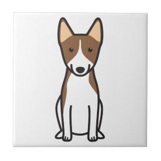 Basenji犬の漫画 正方形タイル小