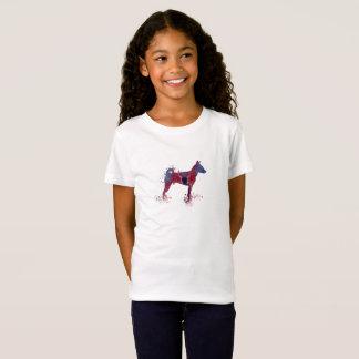 basenji犬の芸術 tシャツ