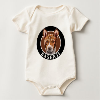 Basenji犬002 ベビーボディスーツ