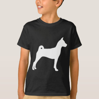 Basenji犬(白で) Tシャツ