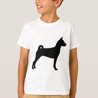 Basenji犬(黒で) Tシャツ