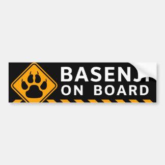 Basenji船上に バンパーステッカー
