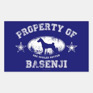 Basenji 長方形シール