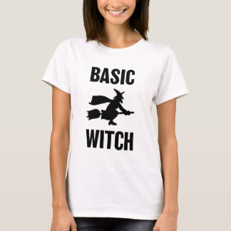 Basic Witch funny women's Halloween saying shirt Tシャツ