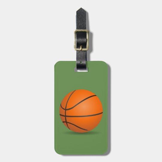basketball ラゲッジタグ