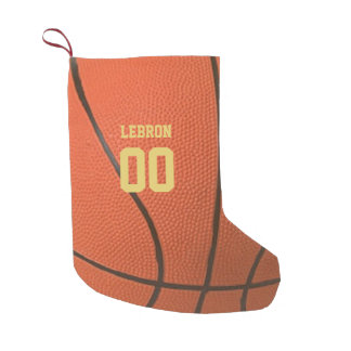 Basketball Texture Personalized Stocking スモールクリスマスストッキング