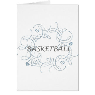 basketballwithswirlybackgroundandmore-10x10 カード