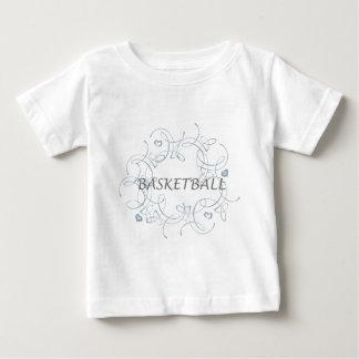 basketballwithswirlybackgroundandmore-10x10 ベビーTシャツ