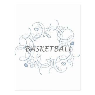 basketballwithswirlybackgroundandmore-10x10 ポストカード
