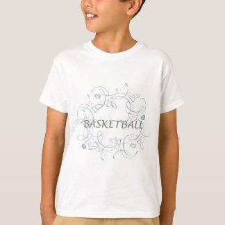 basketballwithswirlybackgroundandmore-10x10 tシャツ