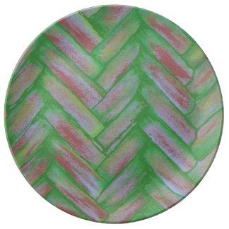 Basketweaveの磁器皿 磁器プレート