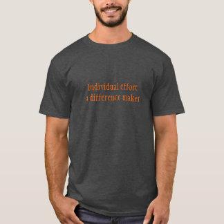 Basocの暗いTシャツ(木炭)の前部か背部思考 Tシャツ