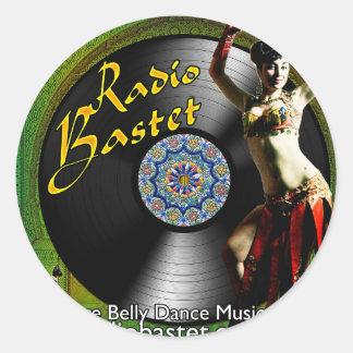 Bastetの無線の小さいステッカー ラウンドシール