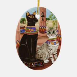 Bastetエジプトの靭皮繊維の女神猫のオーナメントの寺院 セラミックオーナメント