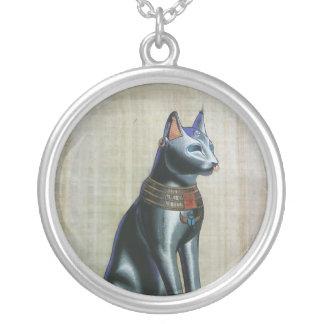 bastet、猫の女神 シルバープレートネックレス