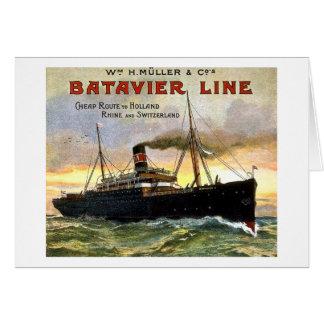 Batavierライン-ヴィンテージ旅行 カード