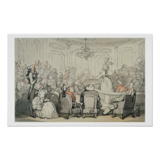 「Bathの場面」からのコンサート、c.1795-1800 (w ポスター