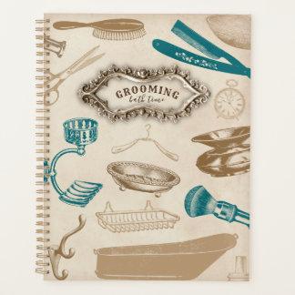 Bathの時間プランナーに手入れをするヴィンテージ プランナー手帳