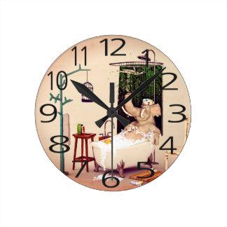 Bathの時間 ラウンド壁時計